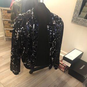 Jackets & Blazers - Black sequin jacket
